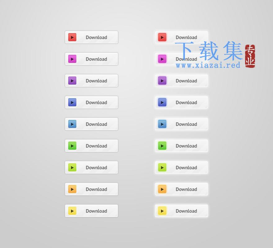漂亮的网页下载图标PSD分层模板