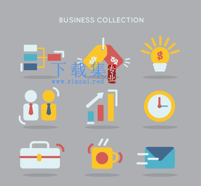 9个精美商业图标设计AI矢量图  第1张