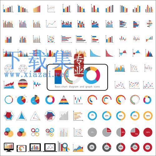 彩色图形图标集合EPS矢量素材  第1张