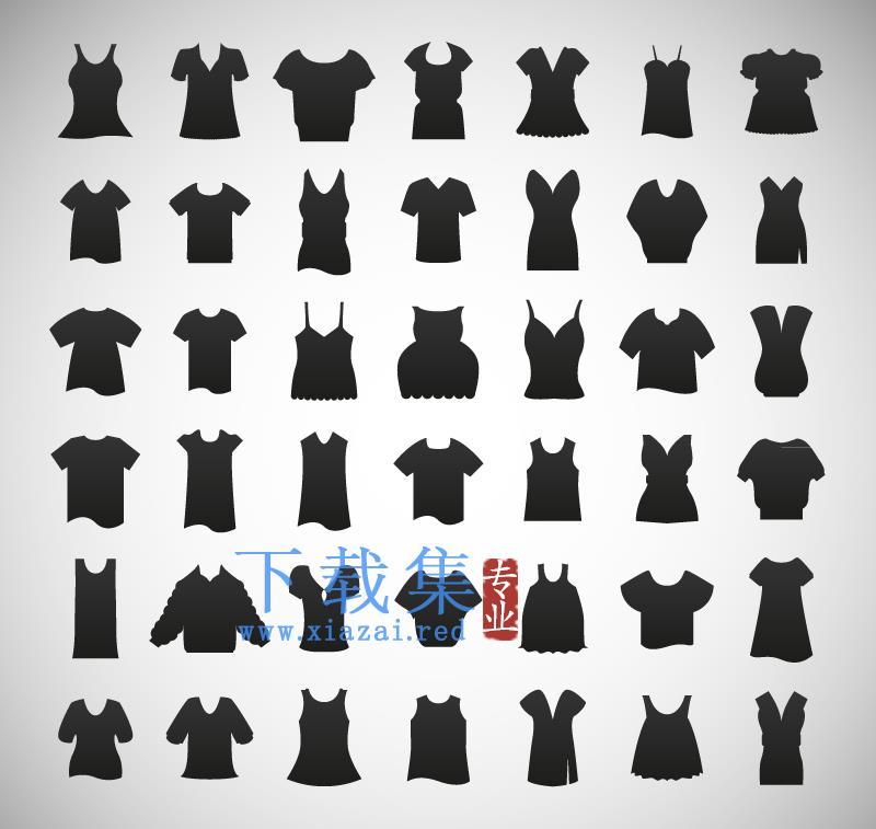 女式服装,女装AI矢量图标  第1张