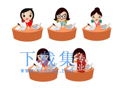 5个办公女性PNG免抠图