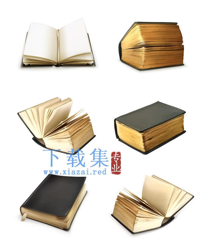老旧的图书、书籍EPS矢量素材  第1张