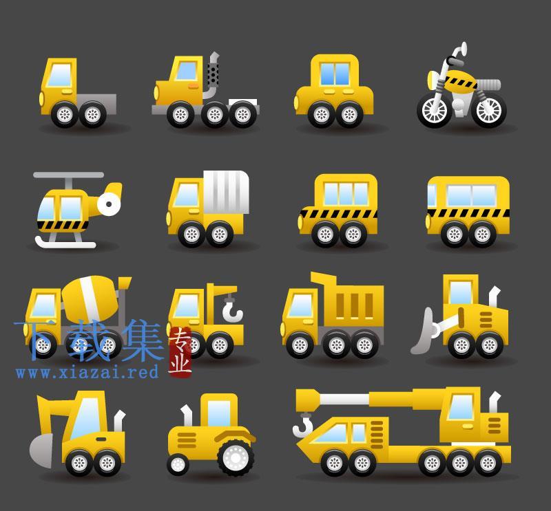 15个运输工具EPS矢量图标  第1张