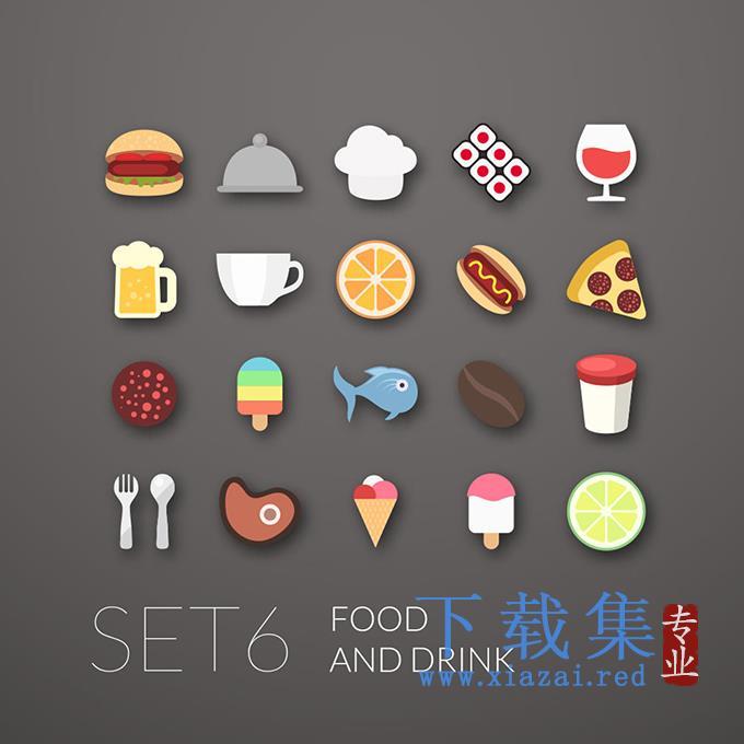食物和饮料EPS矢量图标