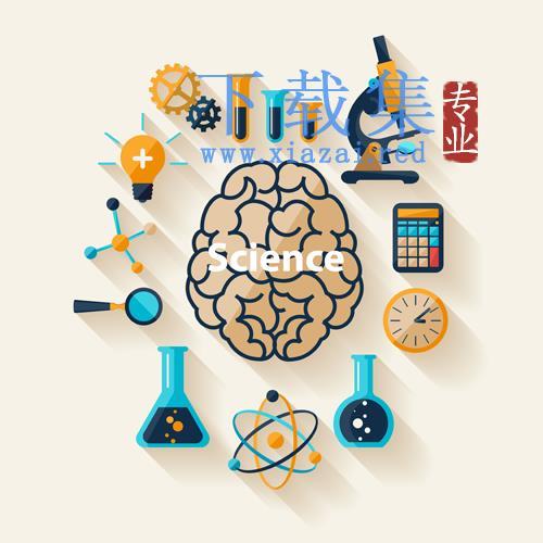 创意医学研究AI&EPS矢量图标