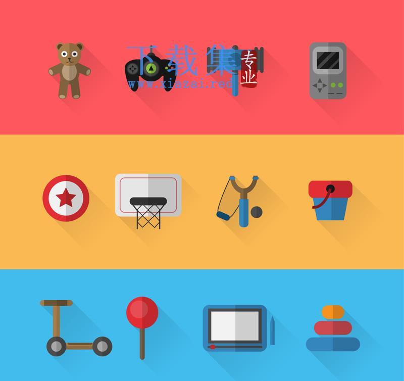 12精美玩具AI矢量图标