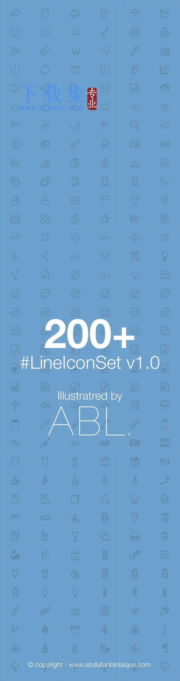 200+LineIconSetv1.0EPS矢量图标  第2张