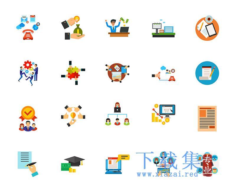 创意商业办公通讯图标EPS矢量集