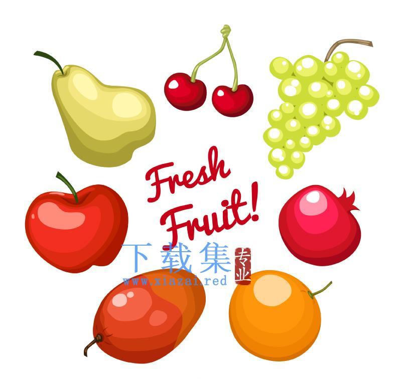 7个美味的水果AI矢量素材