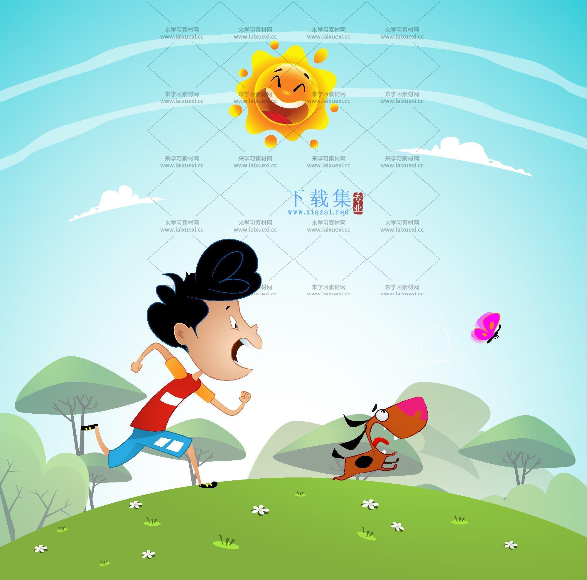 儿童插画背景矢量素材