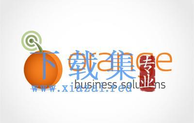 适合水果商店的橙色水果LOGO标志EPS矢量素材  第1张