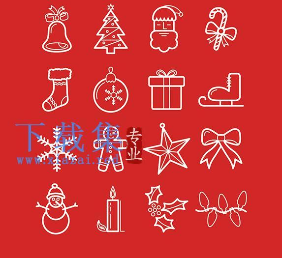 免费圣诞节元素PNG免抠图