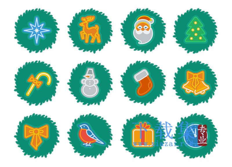 圣诞节设计元素PNG免抠图