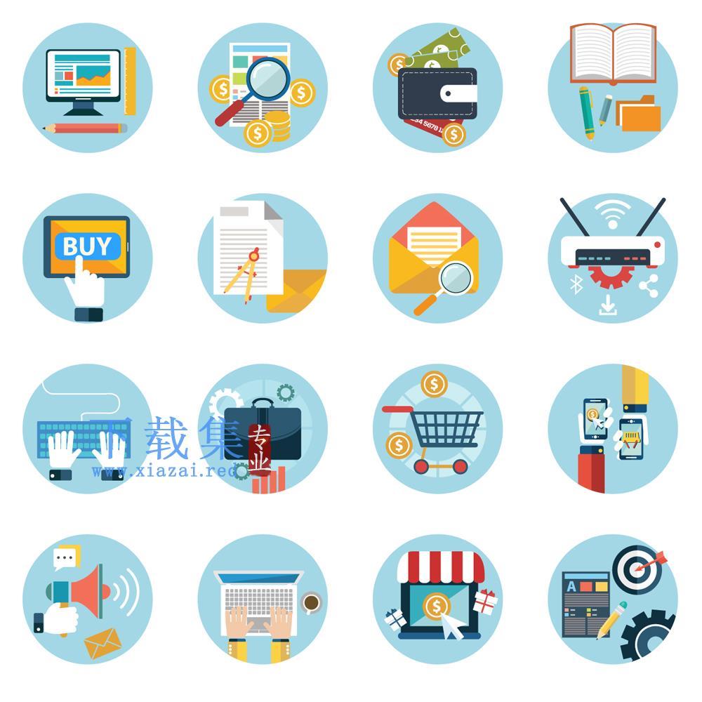 16个圆形商业办公EPS矢量元素