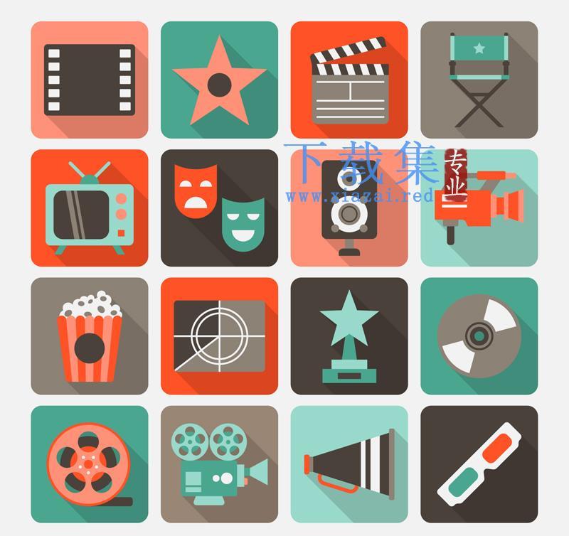 16精美电影周边元素AI矢量图标  第1张