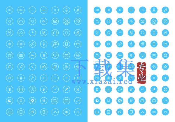 70个圆形IOS8图标PSD分层模板