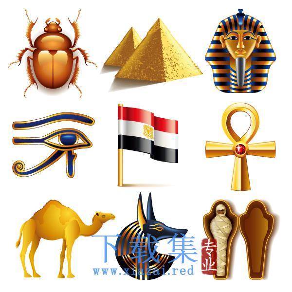 埃及特色图标EPS矢量元素