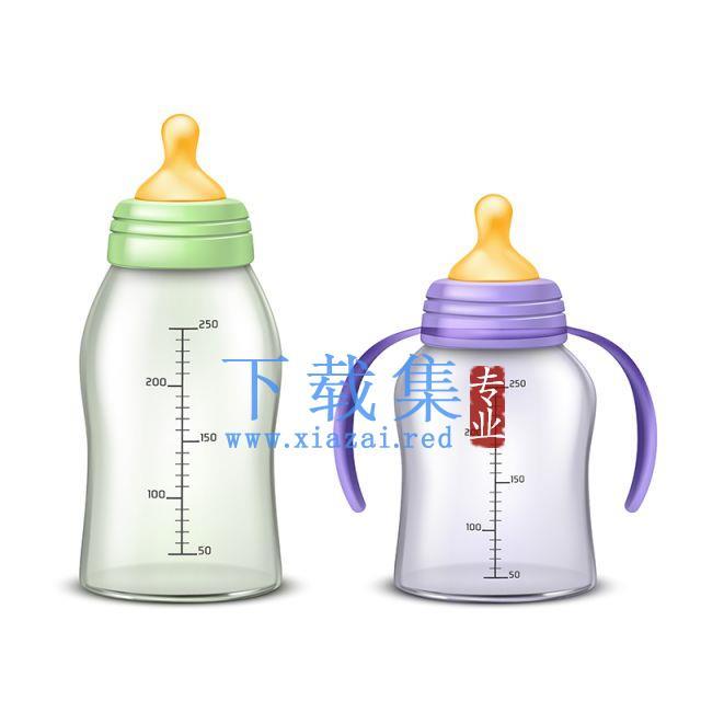 背景分离的矢量空奶瓶素材