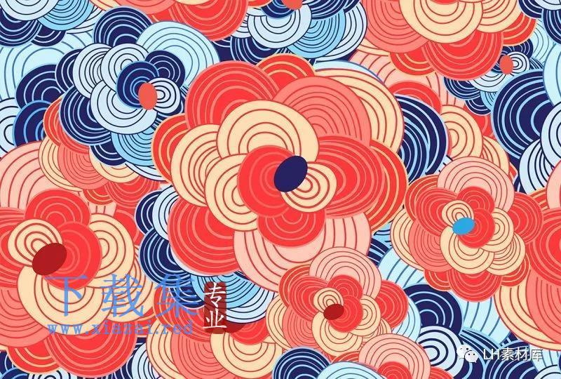 7款中式纹理特色插画EPS矢量素材  第5张