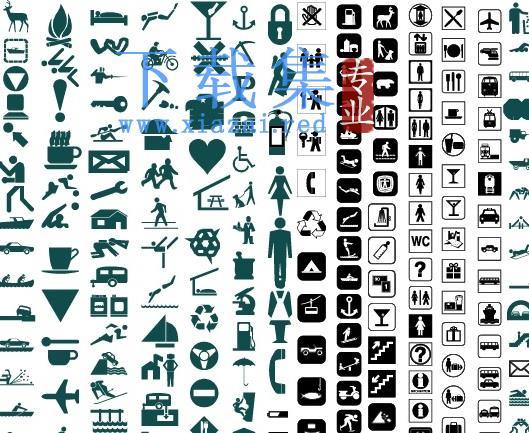 上百个公共图标AI矢量素材  第1张