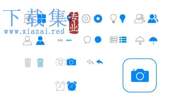 苹果iOS7风格图标AI矢量元素  第1张