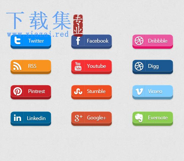 长方形网络社交媒体PNG免抠图