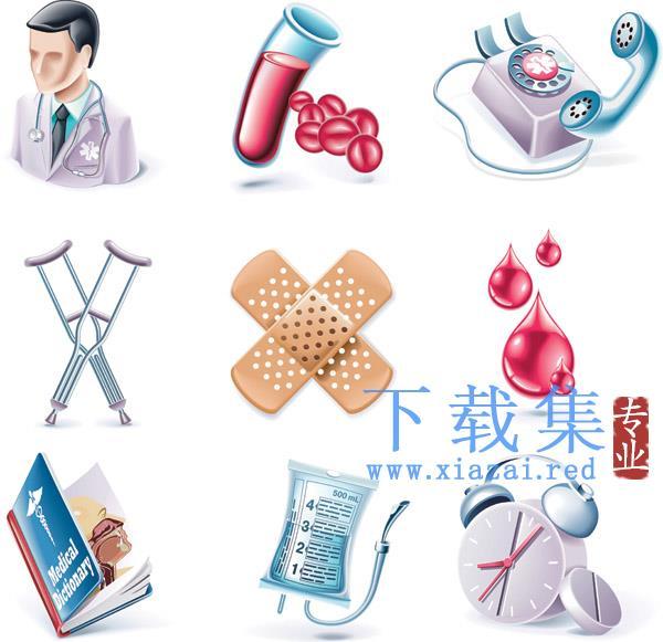 医疗工具医学研究及人体器官矢量图