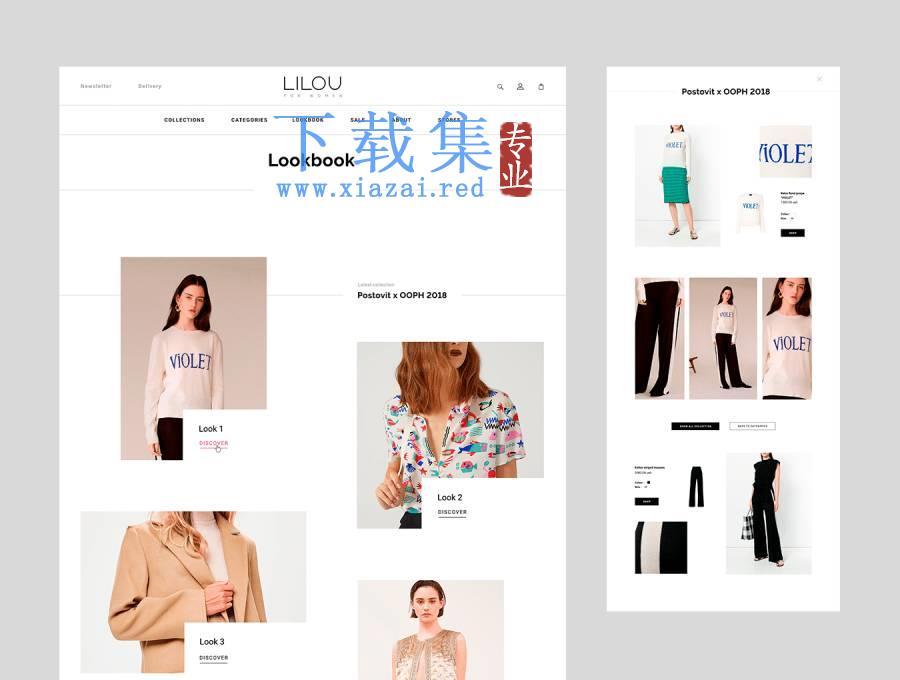 时尚女性服装店网页模板UI工具包(含psd和sketh源文件)