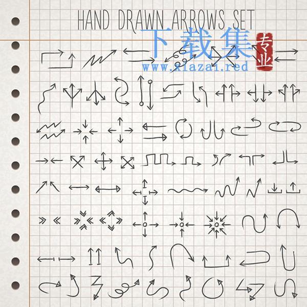 68个手绘箭头设计EPS矢量图  第1张