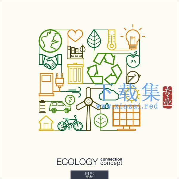 平面生态图标EPS矢量素材  第1张