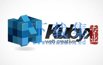 Rubix多维数据集魔方网站LOGO标志EPS矢量素材