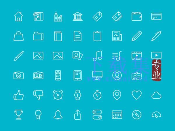 48个图标AI,PSD,EPS,SVG,PNG免抠图