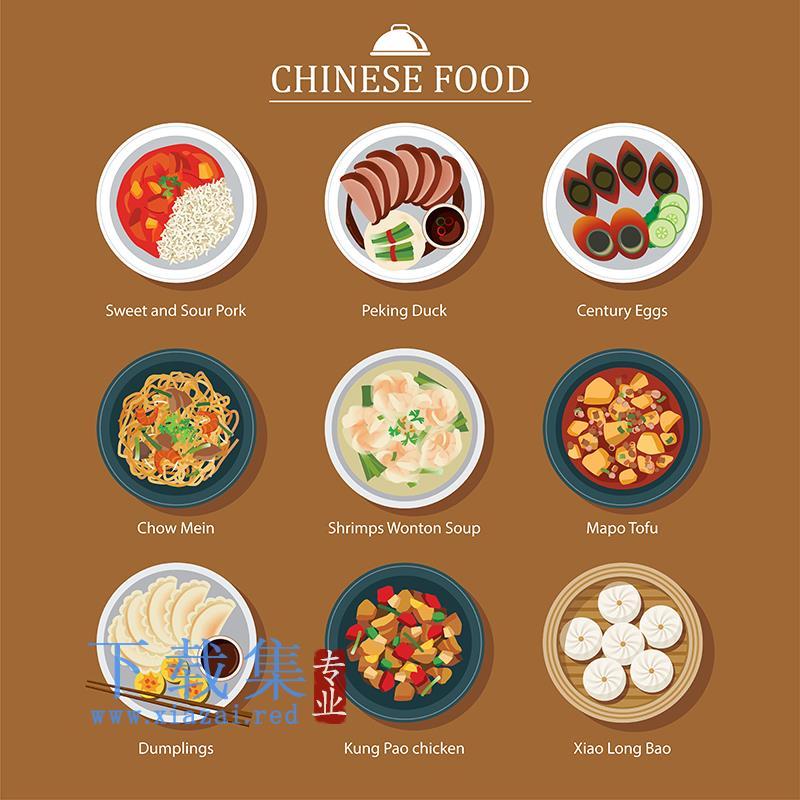 中国中餐图标EPS矢量图