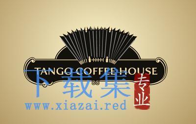 复古探戈咖啡屋logo标志AI矢量素材