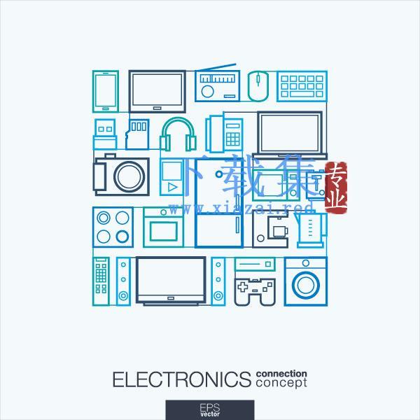 平面电子图标EPS矢量素材  第1张
