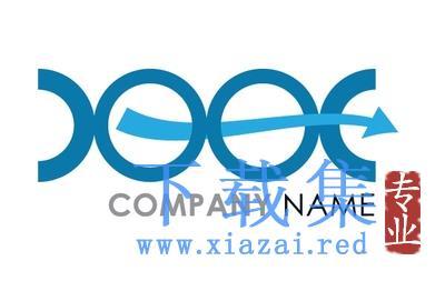 蓝色LOGO企业标志EPS矢量素材  第1张