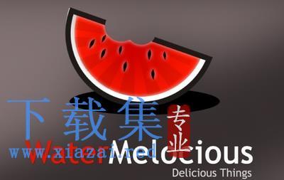 水果店和饮料店的西瓜LOGO标志AI矢量素材  第1张