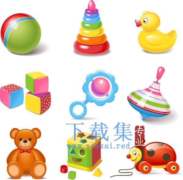 儿童玩具EPS图标矢量包7  第1张