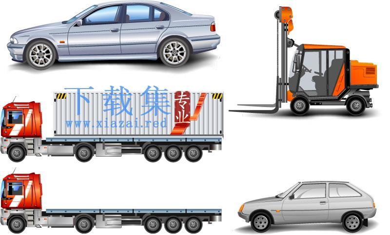卡车和叉车汽车EPS矢量设计元素