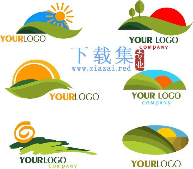 适合旅游项目的日出LOGO标志EPS矢量素材