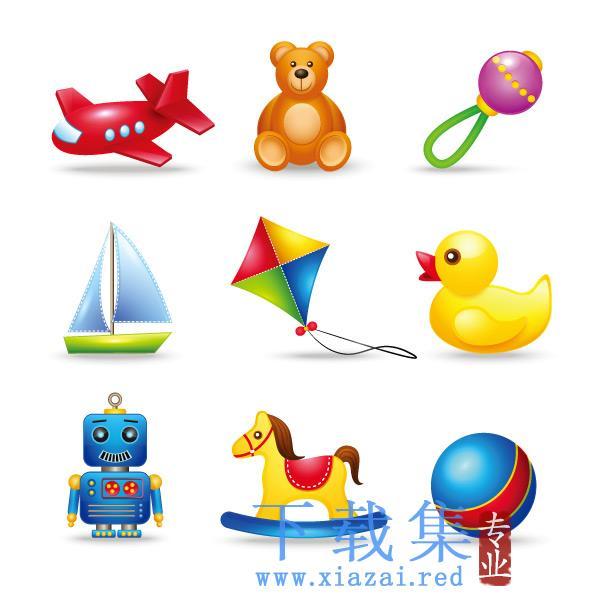 儿童玩具EPS图标矢量包2  第1张