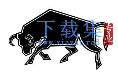 公牛图标矢量素材EPS设计模板  第1张