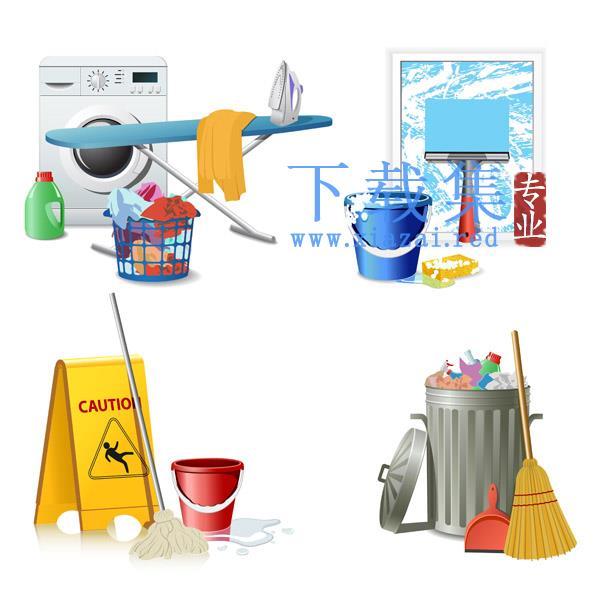 卫生清洁用品设备AI矢量图标素材  第1张