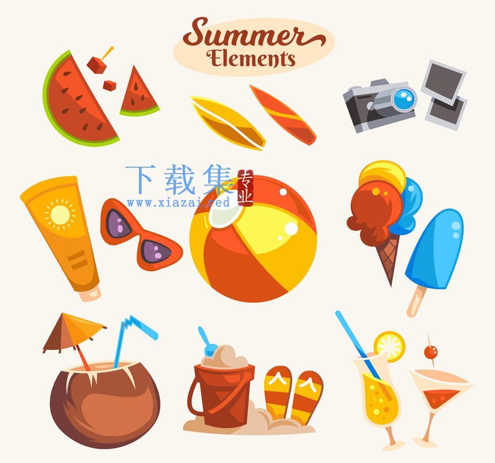 16个创意夏季清凉降暑矢量元素