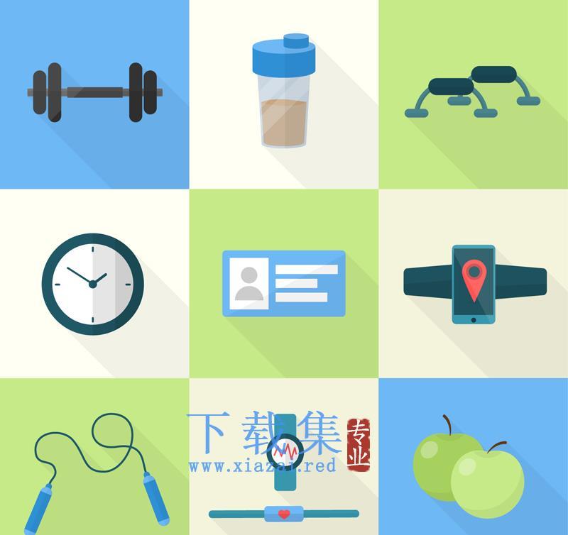 9个健身项目AI矢量素材