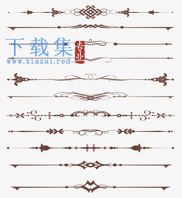 復古花紋合集花纹边框矢量素材