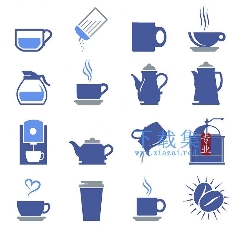16个和咖啡店有关的AI矢量素材