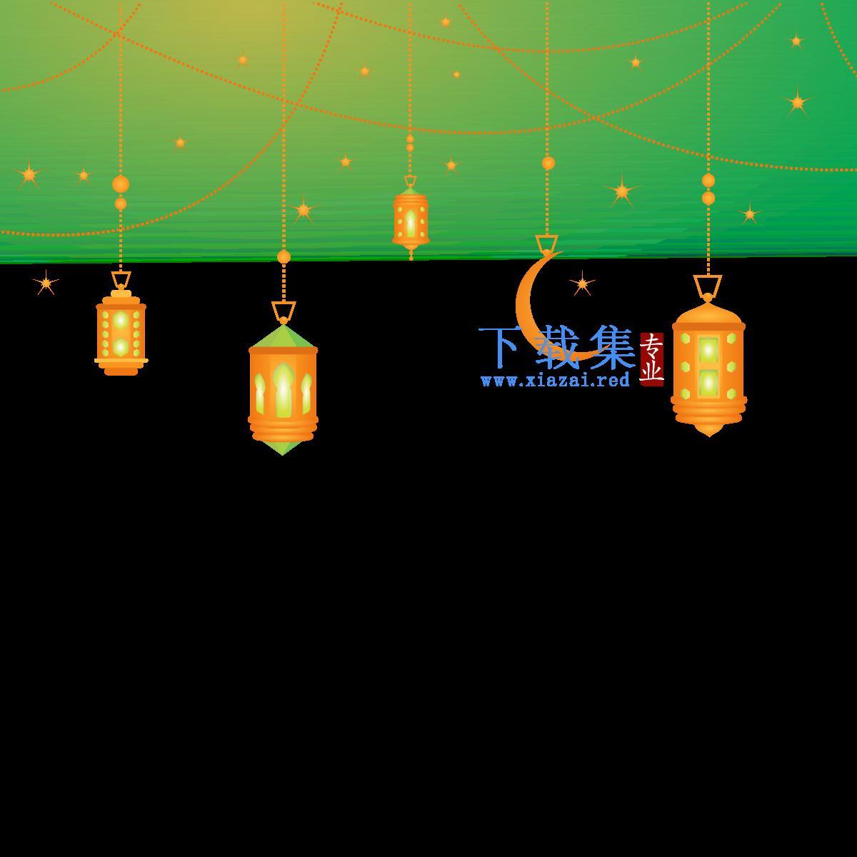 伊斯兰背景灯吊灯CDR素材