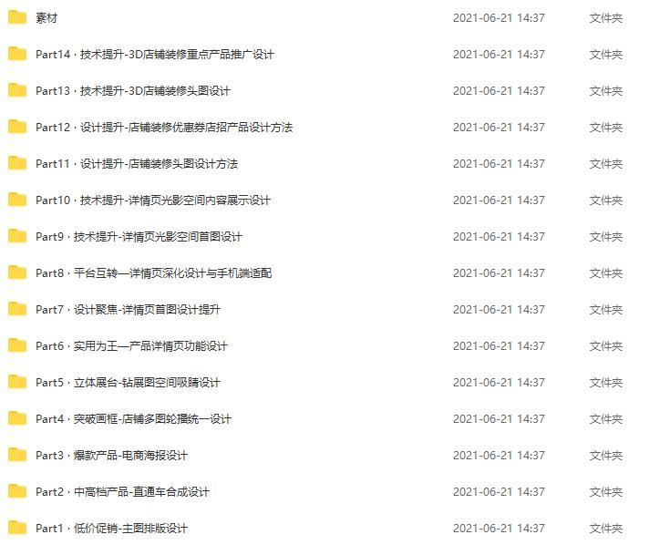 2021年10月刘沛冉电商设计0基础到就业【完结】