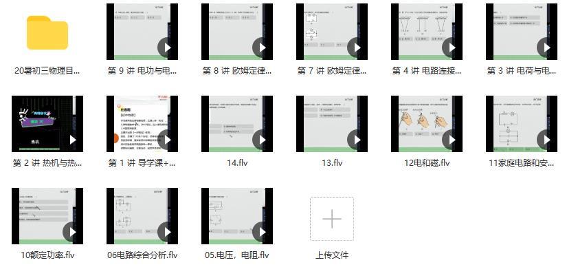 【2021暑假】初二升初三物理直播目标班(全国版)14讲 杜春雨